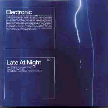 Electronic - Late At Night [single] (1999) by Electronic (보컬) on ...  Latenight
